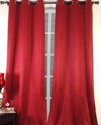 Deco Window Sega Green Polyester Door Curtain Set of 2pcs 0001