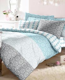 Raymond Blue Imprint Double Bedsheet with 2 Pillow Cover 000290BF01