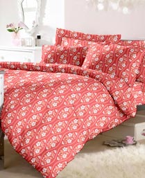 Raymond Red Life is Beautiful Bedsheet with 2 Pillow Covers 000389BF02