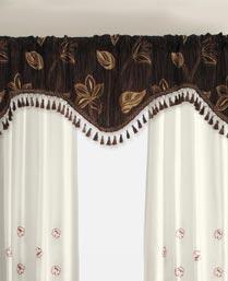 Deco Window Chocolate Polyester Valance 0128VA