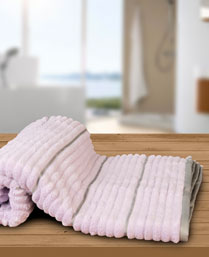 Welspun Violet Grey Exotica Ribbed Bath Towel 1019631