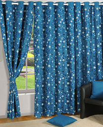 Swayam Turquoise Curtain Concept Printed Curtain 1416