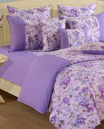 Swayam Purple Shades N More Double Fitted Sheet 1427FS