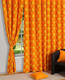 Swayam Yellow Curtain Concept Printed Curtain 1451