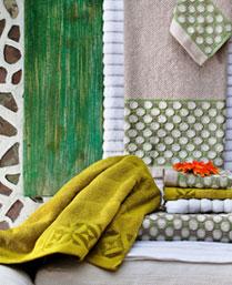 Maishaa Lime Cotton Towels 16249003