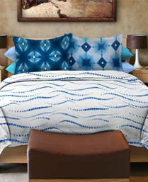 Bombay Dyeing Blue Artsy King Bedsheet Set 6252