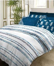 Bombay Dyeing Blue Artsy King Bedsheet Set 6256