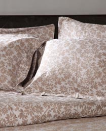 Stoa Paris Brown Jacquard 5pc 300TC Bedsheet Set & Duvet Cover 7002
