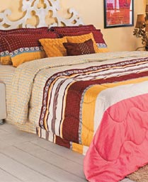 Portico New York MultiColor Eldora King Bedsheet with 2 Pillow Cover 9062712
