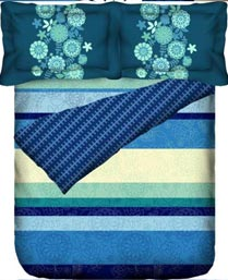 Portico New York Blue Eldora Bedlinen 9062731