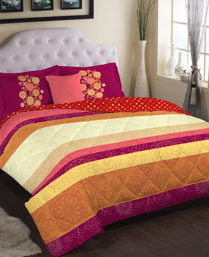 Portico New York Brown Eldora King Bedsheet with 2 Pillow Cover 9062732