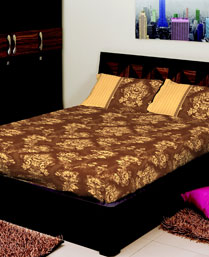 Portico New York Multi Colour Eldora King Bedsheet with 2 Pillow Cover 9062742