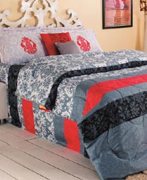 Portico New York MultiColor Eldora King Bedsheet with 2 Pillow Cover 9062772