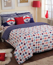 Portico New York Multicolour Nautical Bedlinen 9063491