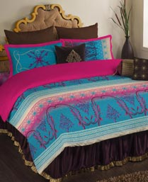 Portico New York Multi Colour Neeta Lulla King Bedsheet 9063691