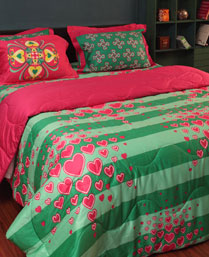Portico New York MultiColor 300TC Bed linens from Manish Arora Heart collection 9070272