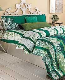 Portico New York Green Evita Bedlinen 9070521