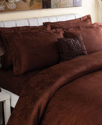 Portico New York Brown Ruffle King Bedsheet 9080274