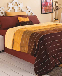 Portico New York Mocha Creme Wisteria Single Comforter 9100751