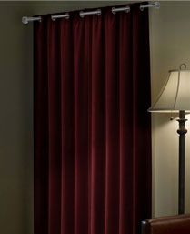 Portico New York Maroon Enwrap Curtain 9360016