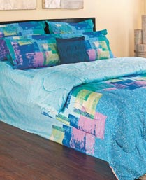 Portico New York Blue Elena 3pc King Bedsheet Set 9900812
