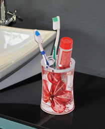 obsessions acrylic toothbrush holder Agua287855R