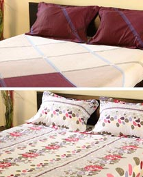 Bliss MultiColor Combo Offer 6pcs Double Bedsheet Set COMBO001