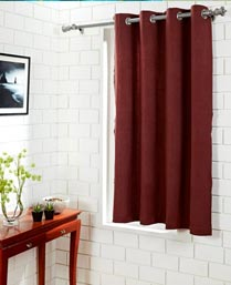 House This Red Ethnic Paisley  Window Curtain CR154A