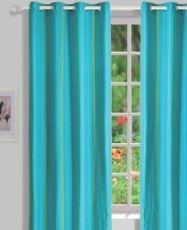 House This Blue Mexican Jacquard Curtains CR253B