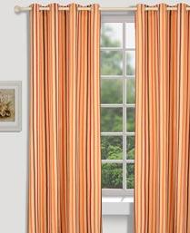 House This Brown Geometric Dobby Curtains CR256A
