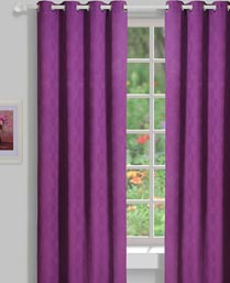 House This Purple Medellion Jacquard Curtains CR262A