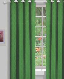 House This Green Medellion Jacquard Curtains CR262B