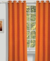 House This Red Ottomon Curtains CR267B