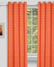 House This Red Paisley Curtains CR268A