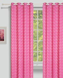 House This Pink Paisley Curtains CR274B
