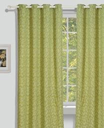 House This Green Organic Jacquard Curtains CR275A