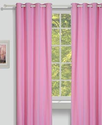 House This Pink Chic Dobby Curtains CR278B