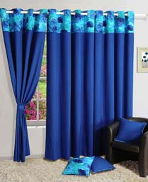 Swayam Turquoise Curtain Concept  Printed Curtain CURDP6715