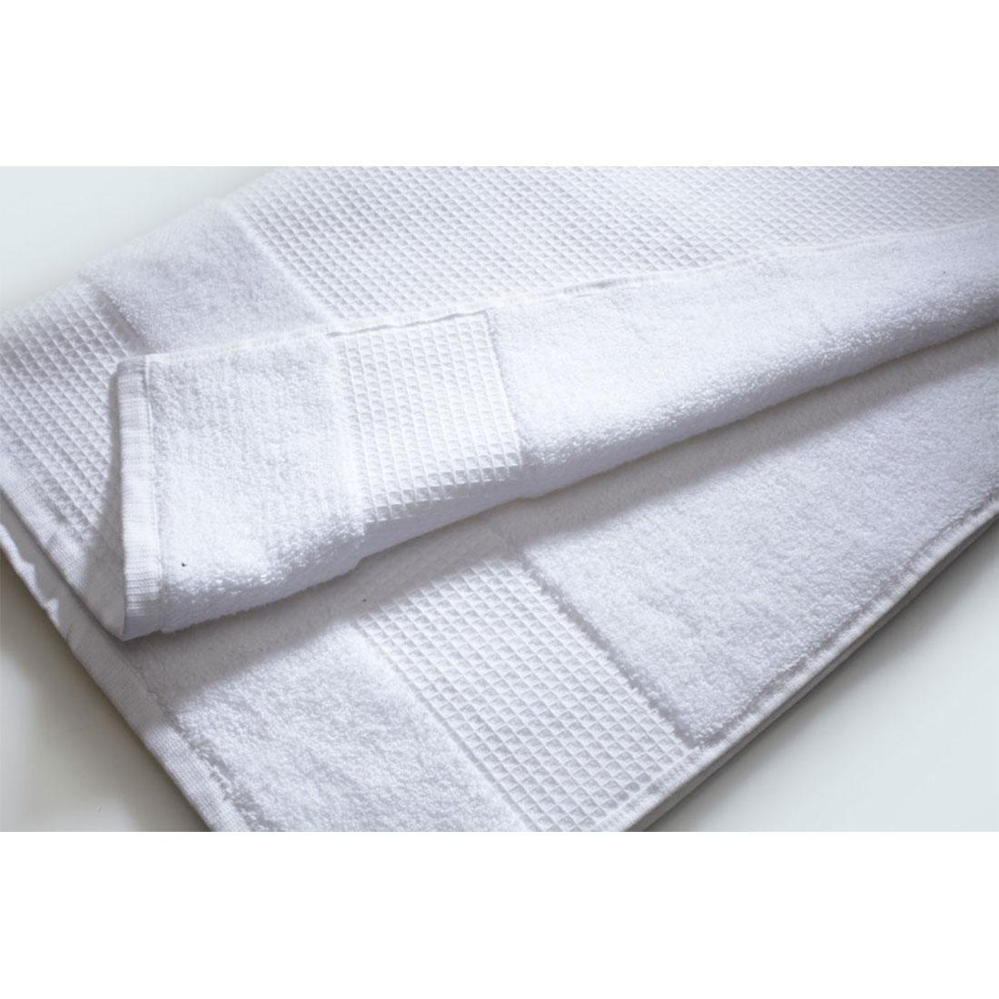 Fisher West NY White Cotton Waffle Terry Bath Towel  FWNYBathtowel