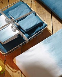 House This Blue Double Bedsheet With 2 Pillow Covers Tray Set GS71