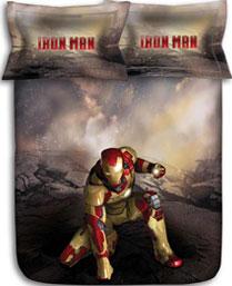 Stoa Paris Brown Iron Man 300TC Bedlinens Set IM33101