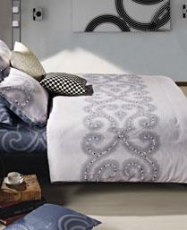 Maishaa Multi Colour Serenity KIng Bedsheet Set MSC 015