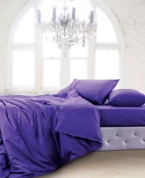 Spread Dark Purple Oxford Bedlinen OXFORDDARKPURPLEFITTED