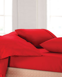 Spread Red Oxford King Fitted Sheet Set OXFORDREDFITTED