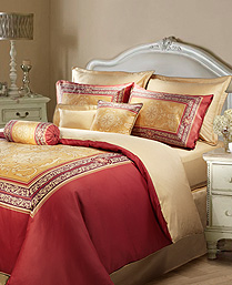Santas Red SEVERUS 350TC Cotton Sateen King XL 3pcs Bedsheet Set SANTAS005