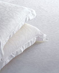 St. Cloud White 300 TC Jacquard King Bedsheet with 2 Pillow Cover STCLDJQD1017