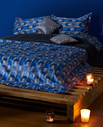Stoa Paris Blue 300 Thread Count Cotton King Bedsheet Set STP30007