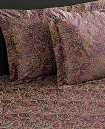 Stoa Paris Multi Color 300 TC Cotton King Bedsheet with 2 Pillow Cover STP30035