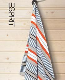 Esprit Grey Cotton Stripes Towels TL17G