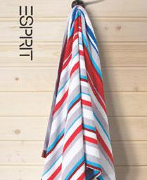 Esprit Red Cotton Stripes Towels TL23R